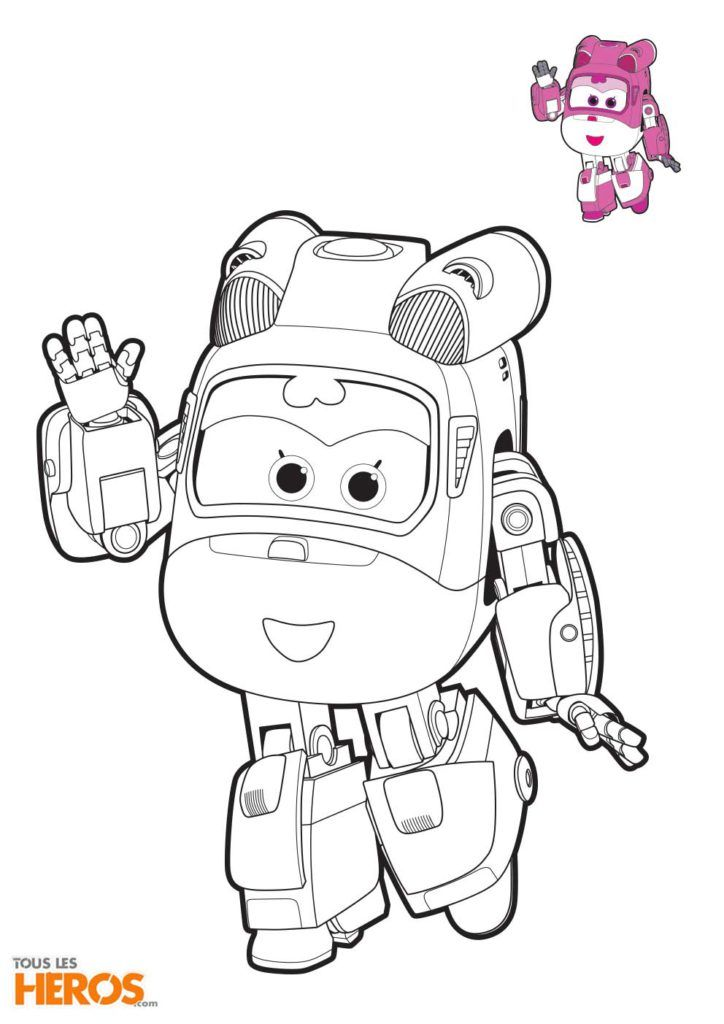 Coloriage Super Wings Dizzy L Helicoptere De Sauvetage Coloriage Super Wings Coloriage Licorne Coloriage