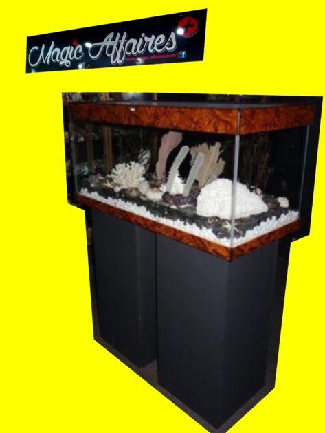 Terrarium vivarium aquarium luxe avec 2 support bois L 110 x P 50 H 54 cm 250 litres - ANIMAUX ACCESSOIRES/AQUARIUM - magic-affaires-22
