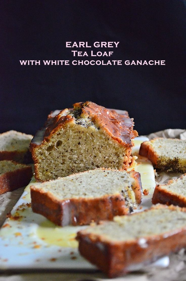 Earl Grey Tea Loaf with White Chocolate Ganache | Vanillyn.com