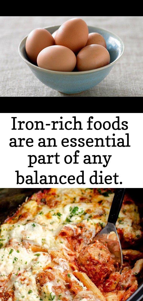 #balanced #Diet #essential #foods #high #iron #IronRich # ...