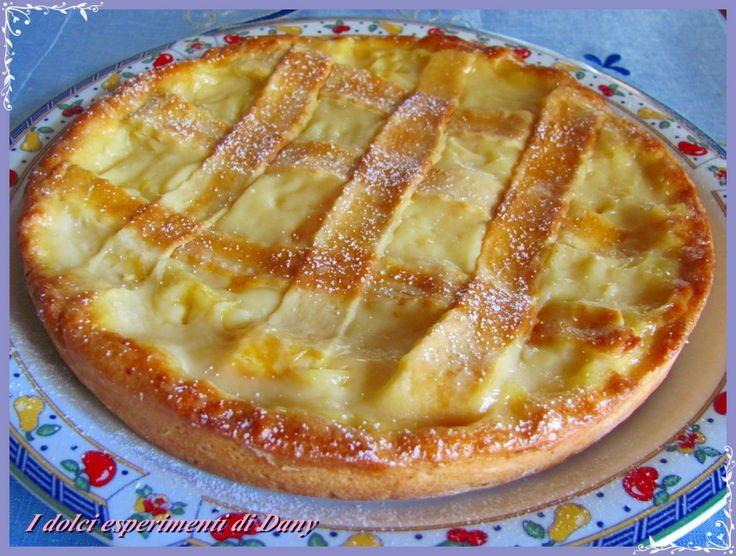 crostata con crema agli agrumi