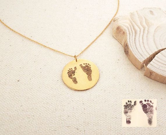 20% OFF Baby FootPrint Disc Necklace by CaitlynMinimalist on Etsy