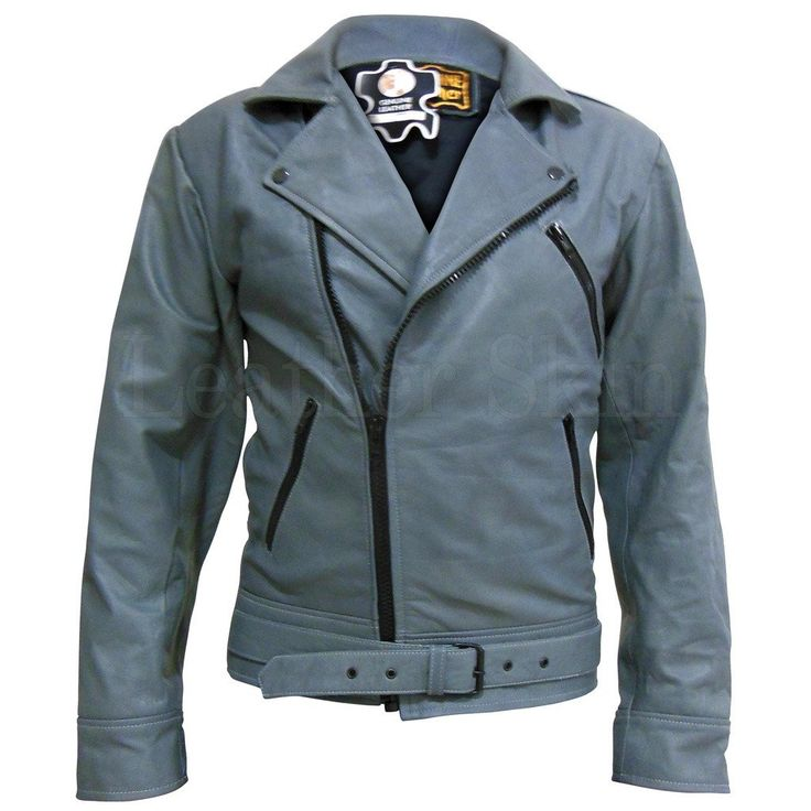 Gray Belted Unisex Biker Leather Jacket  #fashion #swag #style #stylish #socialenvy #PleaseForgiveMe #me #swagger #photooftheday #jacket #hair #pants #shirt #handsome #cool #polo #swagg #guy #boy #boys #man #model #tshirt #shoes #sneakers #styles #jeans #fresh #dope