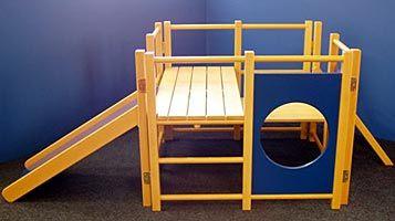 Toddler S Wooden Climbing Frame Nursery Kids Indoor