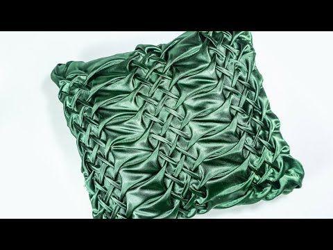 DIY Decorating ideas | Smocked Pillow Cover design | HandiWorks #109 - YouTube