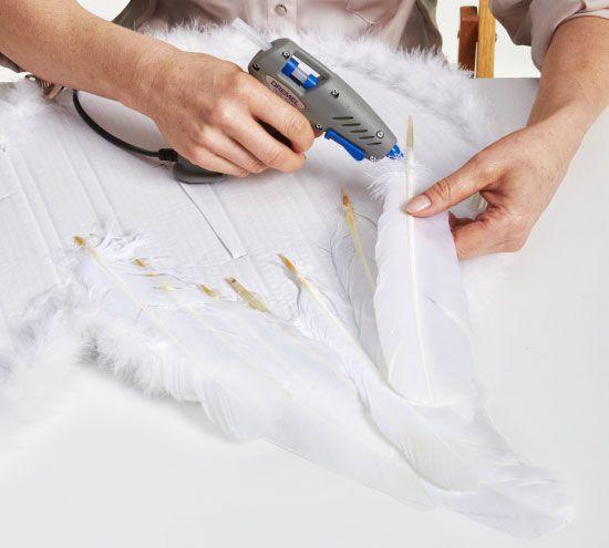 diy halloween costumes kids angel wings goose feathers