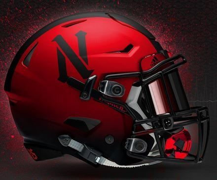 Nebraska Corn Husker Newer Concept Football Helmet.