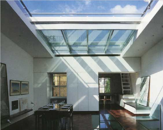 Retractable skylights, rooflight