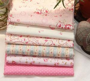 Pink  6 Different Kinds Korean Quilt Fabric Bundle