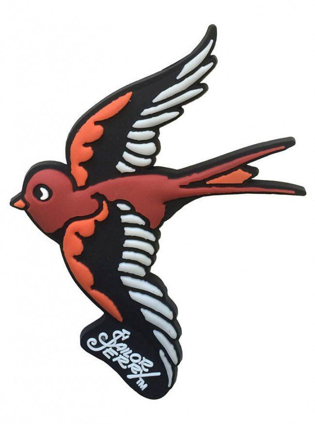 """""""Swallow"""" Magnet by Sailor Jerry (White) 