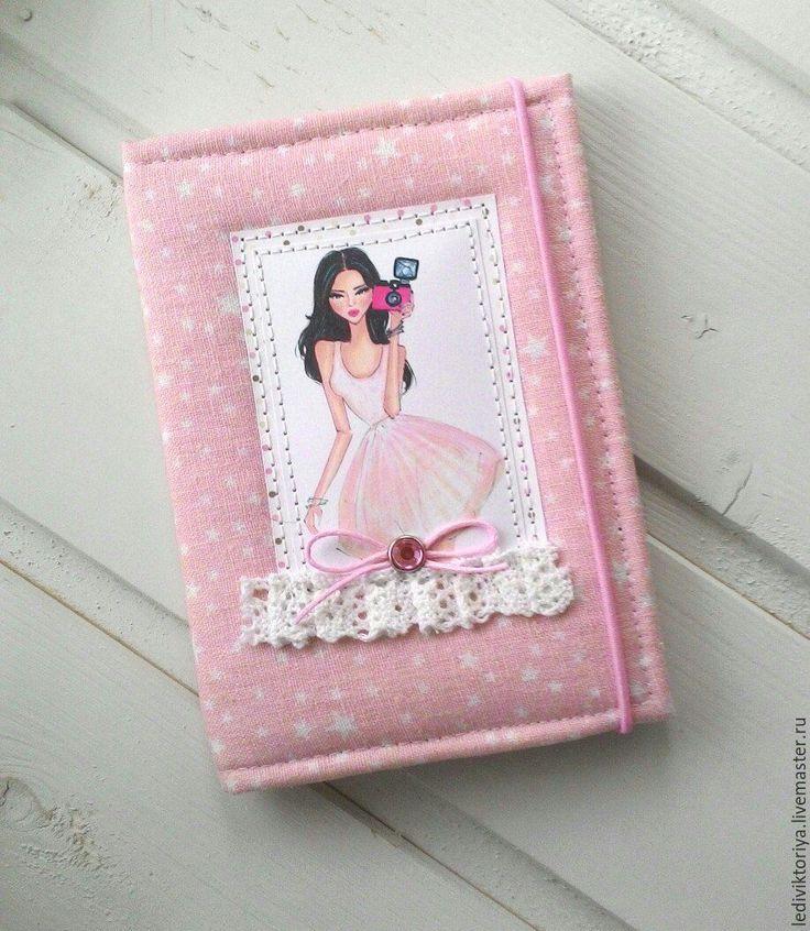 Купить Обложка для паспорта/загранпаспорта - фотография, фотограф, девушка, гламурная, стиль, бледно-розовый, звездочки