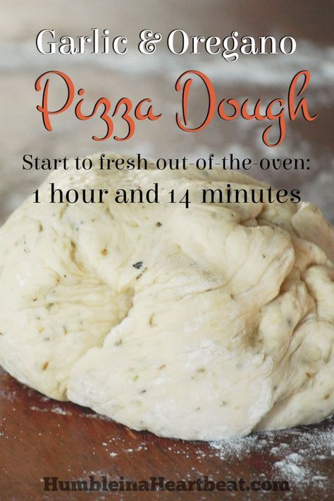 Garlic & Oregano Pizza Dough gives homemade pizza such a wonderful flavor, and it's so easy to make! After trying several different pizza dough recipes, this is my favorite by far, and it's fool-proof!