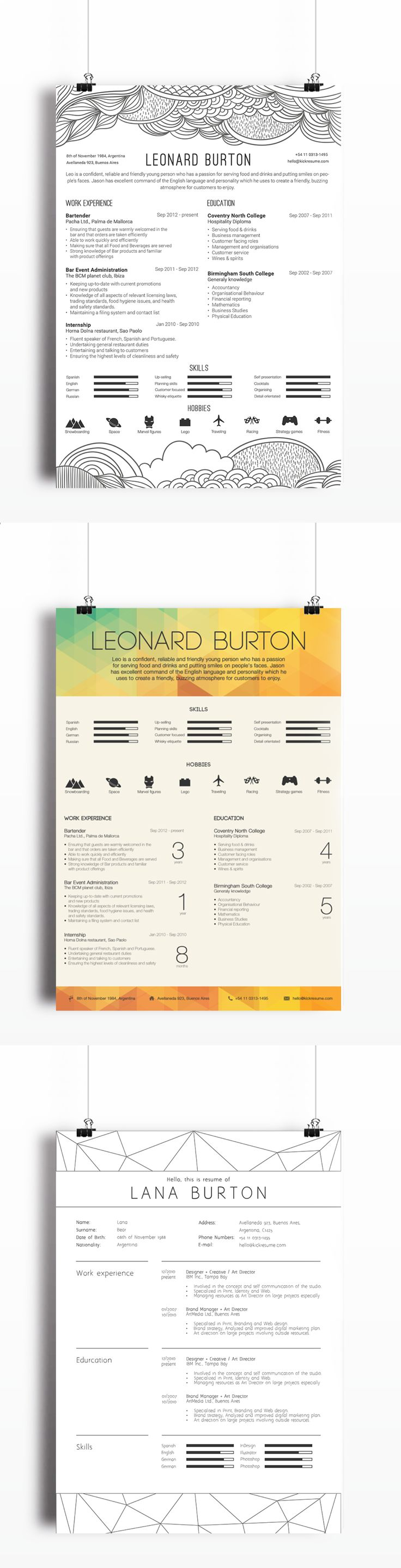 100 sample of creative graphic design resume best 25