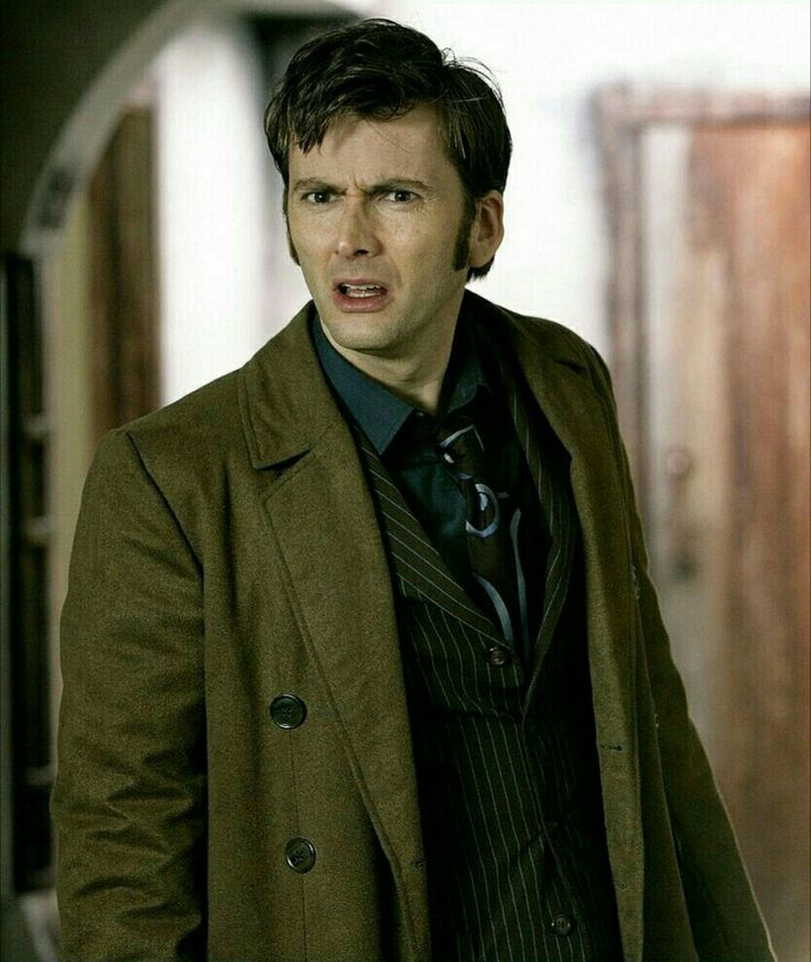 The Doctor's confused face