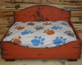 Small Dog Bed Western Dog Bed Wood Dog Bed by WorkHorseFurniture