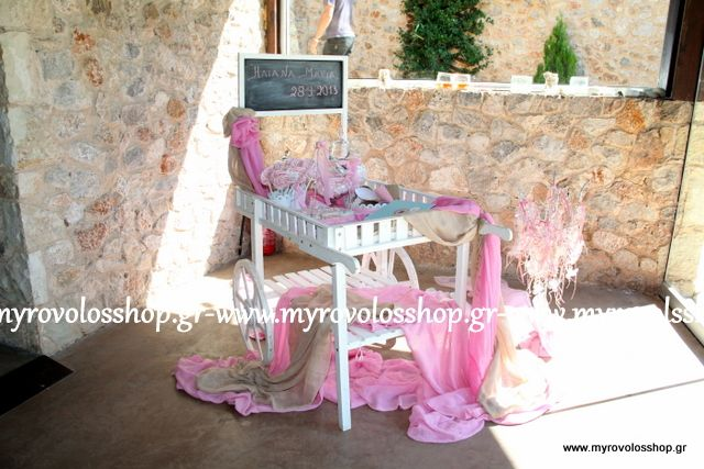 Τραπέζι Βιβλίου Ευχών με Κεράσματα και Γλυκά - Candy Bar, οργάνωση και διακόσμηση βάπτισης ΜΥΡΟΒΟΛΟΣ, δεξίωση στο Βαρυμπόμπη Club