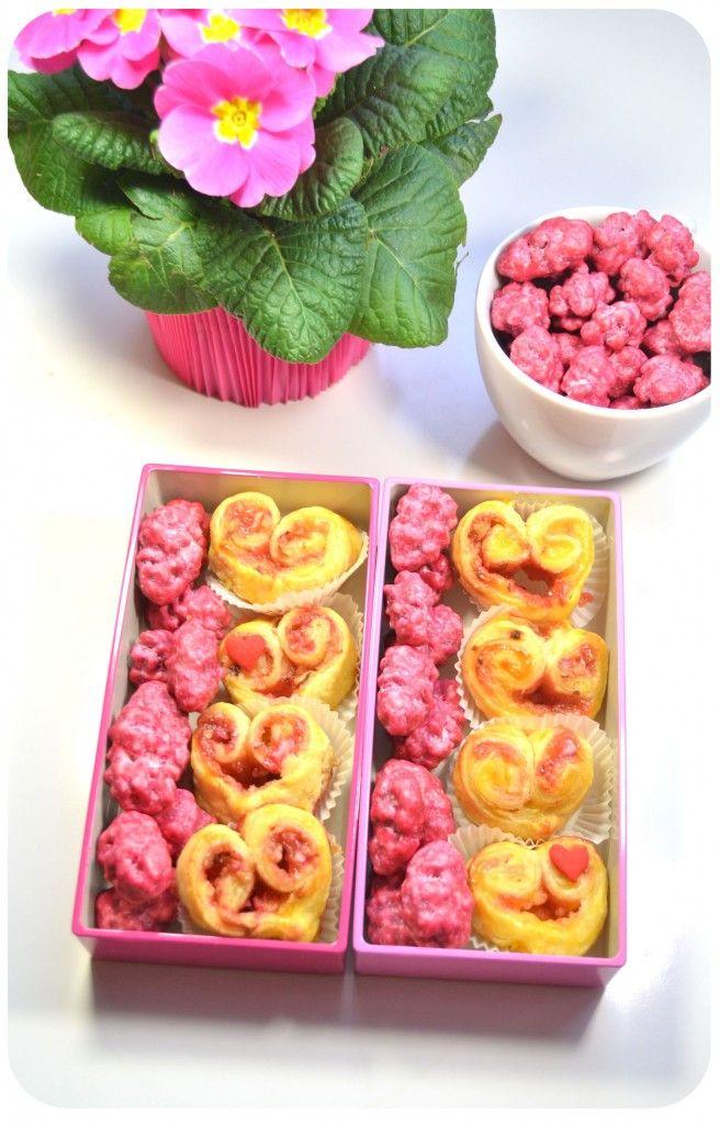 recette-coeurs-feuilletés-pralines-roses-crème-patissière-saint-valentin Saint Valentine's day treats