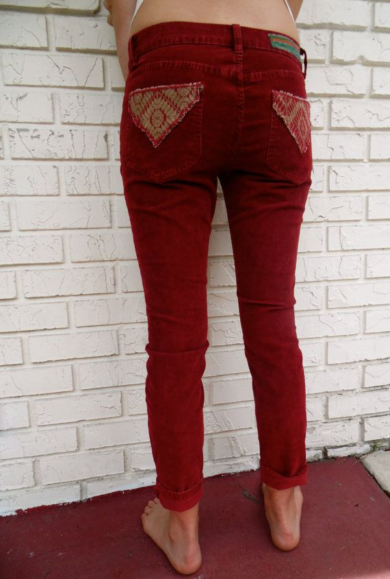 Check out this item in my Etsy shop https://www.etsy.com/listing/191454994/sale-tribal-burgandy-corduroy-pants