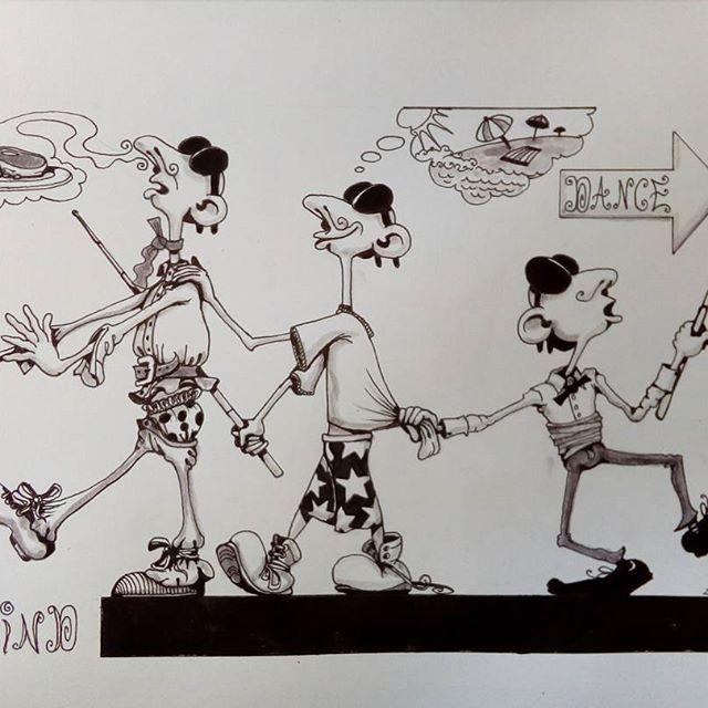 Inktober day 24 - Blind - #inktober #inktober2017 #inktoberday24 #inktoberprompts #ink #penandink #brushandink #brushpen #copic #bmitchleyart #koibrushpen #blind #character #comic #southafricanartist #southafrican #southafrica #artist #artistoninstagram #art #illustration #dailysketch #drawingink #blindleadingtheblind #theblindleadingtheblind #comedy