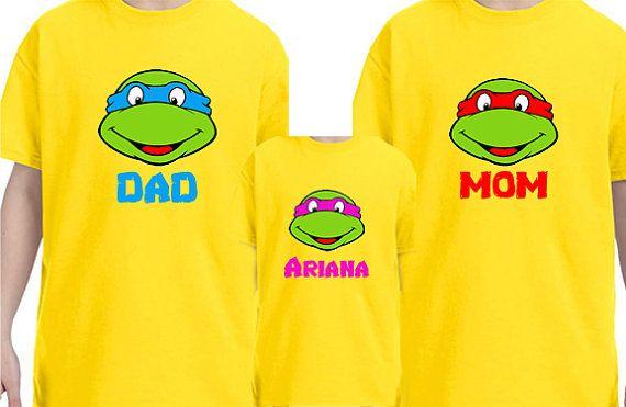 Lego Ninja Turtle Family Shirts by Tsays on Etsy