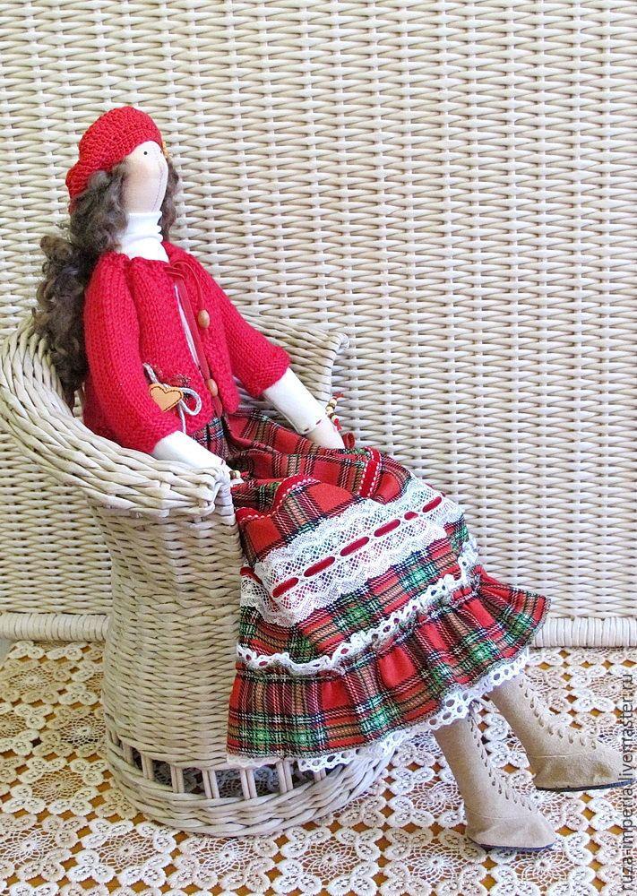 Купить Кукла Фрау Ханна - ярко-красный, кукла Тильда, рождество, новый год 2016 ♡