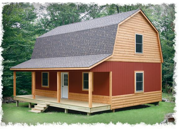 Small cabin loft plans hammond cabins house plans i for Barn like house plans