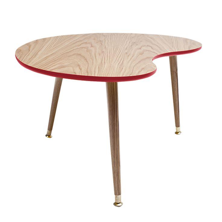 Журнальный столик Почка Столешница – МДФ, лакированный дубовый шпон, краска; ножки – массив бука, краска.