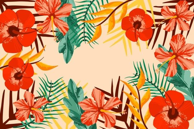 Download Tropical Flowers Zoom Background For Free Tropical Flowers Floral Background Floral Wall Flower wallpaper zoom zoom backgrounds