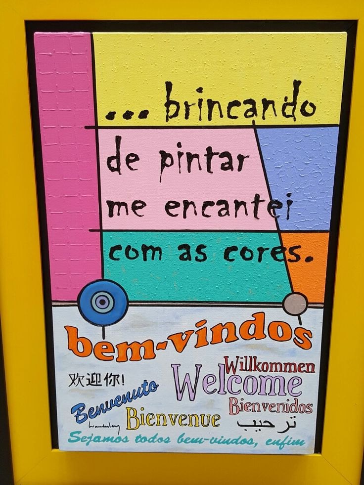 "20 January 2017 (16:10) / ""Bem-Vindos"" (Welcome): Painting by Wanderley Barranco; Osasco Plaza Shopping, Osasco City, São Paulo."