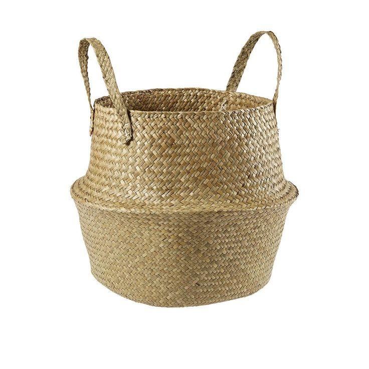 foldable Seagrass Basket homemaker