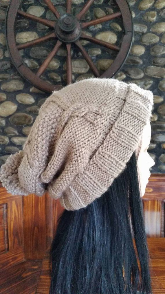 Check out this item in my Etsy shop https://www.etsy.com/listing/259444993/grey-beige-oversized-beanie-women-winter