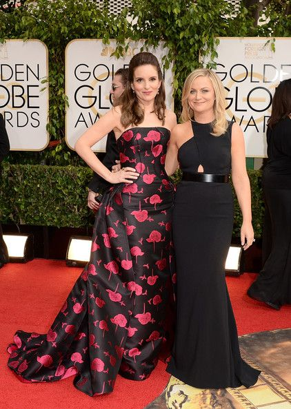 Tina Fey and Amy Poehler On the Red Carpet Before the 71st Annual Golden Globes