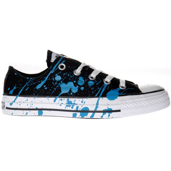 Converse Sneaker Splatter Low ($81) found on Polyvore featuring shoes, sneakers, women, converse trainers, converse footwear, low sneakers, low shoes and converse shoes