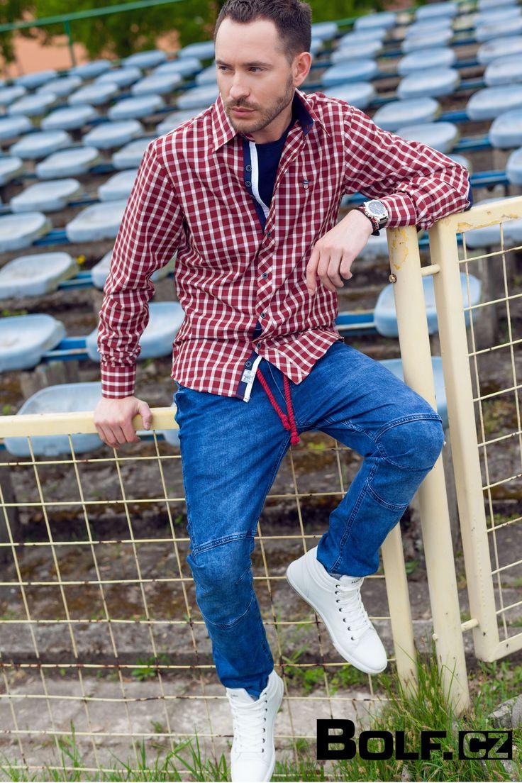 Košile: BOLF 4747 T-shirt: TMK 101 Kalhoty: RED POLO 601 Obuv: HABBITU 310-2