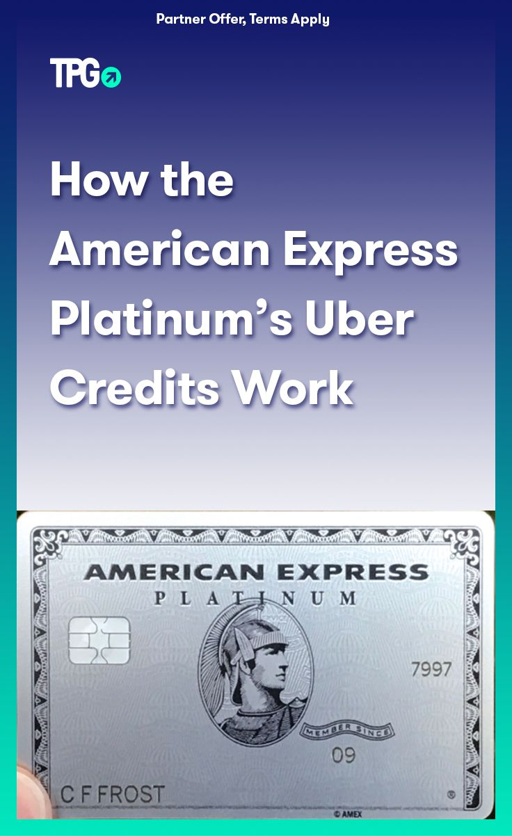 How the American Express Platinum's Uber Credits Work