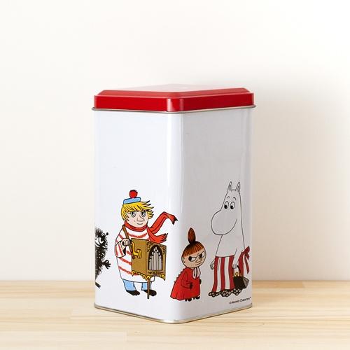 Moomin(Muumi)/ムーミン/ティン缶(M)/ホワイト×レッド
