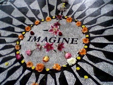 Strawberry Fields in NY City in memory of John Lennon