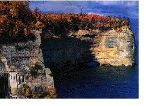 Pictured Rocks in Michigan looks amazing! Great kayaking, hiking to waterfalls, etc.
