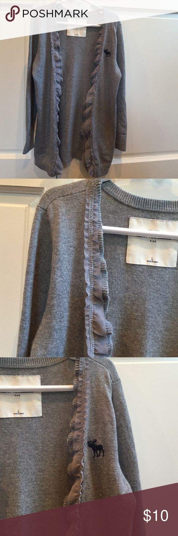 Abercrombie girl's sweater Abercrombie kids girl's gray sweater in good condition. abercrombie kids Jackets & Coats