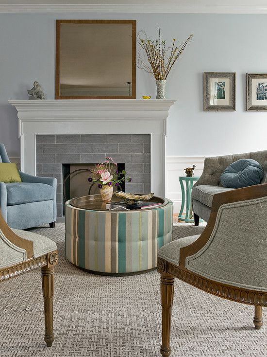 Tile Fireplaces Design Ideas tile fireplaces design ideas Gray Subway Tile Fireplace