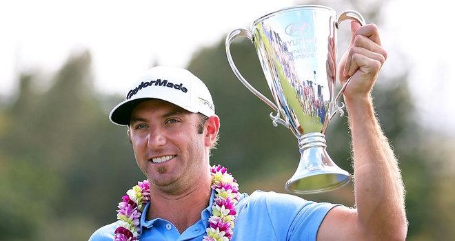 Dustin Johnson Wins the 2013 season-opening Hyundai Tournament of Champions.