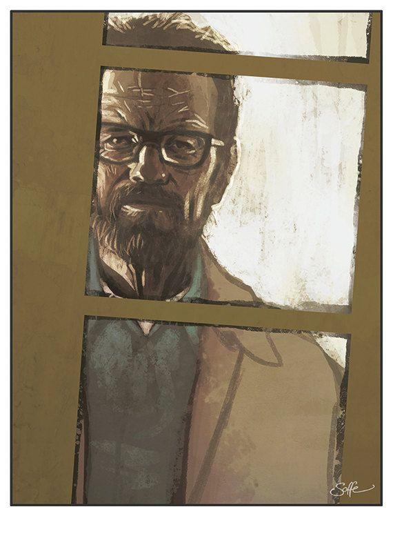So Long Junior - Breaking Bad - Walter White colour art print