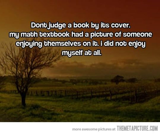 Don't judge a book by its cover…