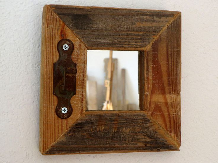 Espejo marco con ensamble madera pinterest for Espejos de pared vintage