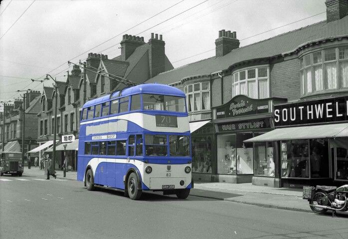 Hessle road, Kingston Upon Hull, 1955.