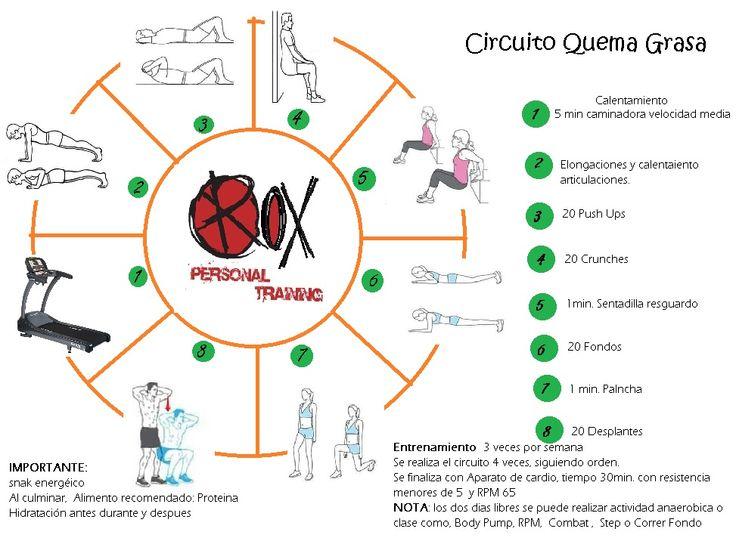 Circuito Quema Grasa Gimnasio : Mejores imágenes de entrenamientos en pinterest