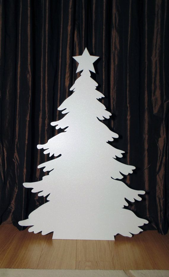 Snowy Christmas Tree silhouette 80x120cm by CreativityWings