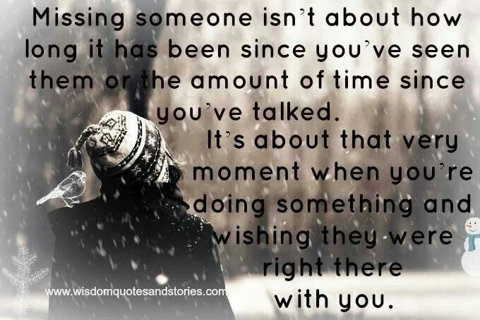Missing Someone Quotes I Miss You Quotes And Sayings: Inspirational Quotes About Missing Someone. QuotesGram