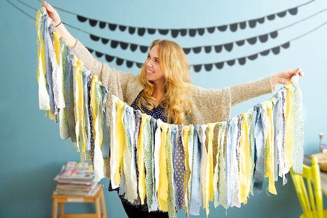 maak je eigen slinger, stoffen slinger, zelf slinger maken, slingers voor verjaardag, slingers voor geboorte, originele slingers