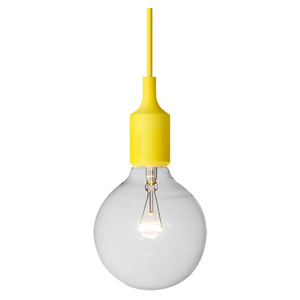 Muuto E27 socket lamp, yellow ($79) ❤ liked on Polyvore